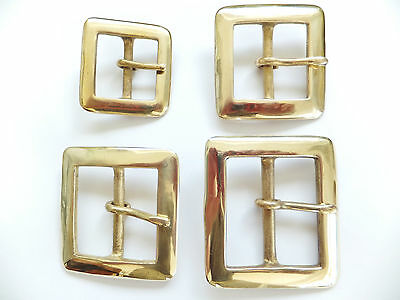 """Solid Brass Square Belt Buckle 1/2"""" - 2"""" in packs of 1,2,5 and 10 - 906"""