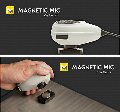 Magnetic Mic conversion kit for mobile CB radio comms handset microphone