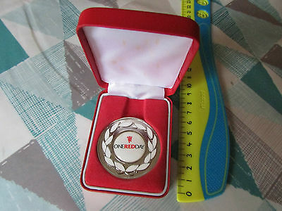 MANCHESTER United One Red Day Collectable Boxed Coin / Medal