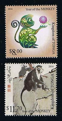 Kingdom of Tonga 2016 Year of the Monkey Stamp Issue