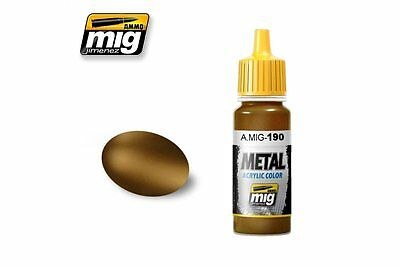 AMMO OF MIG A.MIG-0190 Metallic Color Laiton oxydé - Old Brass 17ml