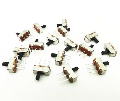 100pcs SS12D00G4 SPDT 1P2T 2 Position 3 Pin PCB Panel Vertical Slide Switch