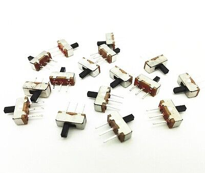 50pcs SS12D00G4 SPDT 1P2T 2 Position 3 Pin PCB Panel Vertical Slide Switch