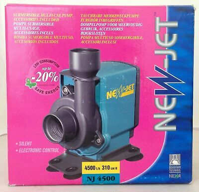 Aquarium Systems Newa Newjet 4500 New Jet Fish Tank Circulation Pump Marine Sump
