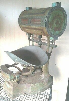 Antique General Store Counter Scale Grocery Pat 1895-04 (Sd1210
