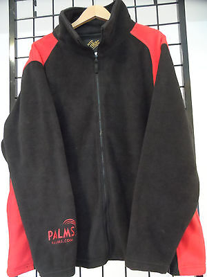 XXXL Las vegas Palms Casino Red & Black Long Sleeve Fleece Style Jacket NWT 3XL