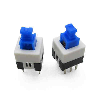 50Pcs Latching 7x7mm Mini Tactile Push Button Switch On-Off DIP-6pins