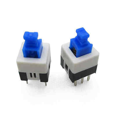 100Pcs Latching 7x7mm Mini Tactile Push Button Switch On-Off DIP-6pins