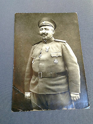 R Rare Bulgarian Royal military photo colonel with orders WWI