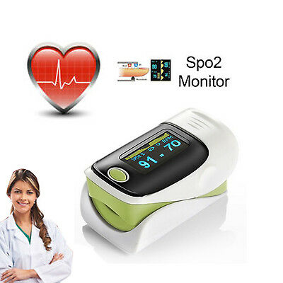 New Pulse Oximeter Sensor Blood Oxygen SpO2 Monitor For Finger PR Heart Rate UK