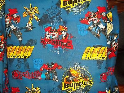 New Hand Made Transformers Prime Badge Cotton Fitted Crib Toddler Sheet