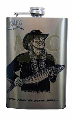 Montana Fly Company Fly Fishing Stainless Steel Art Hip Flask