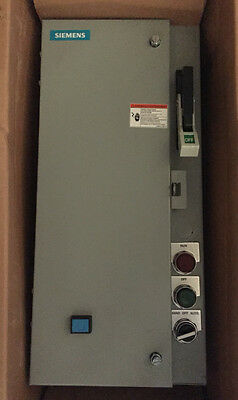 Siemens 17DUD92BF11 M30 Combination Motor Starter, Fusable, FVNR, HD, *NEW*