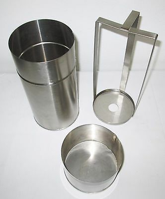 NEW Petri Dish Stainless Steel Sterilization Container + Removable Rack + Lid