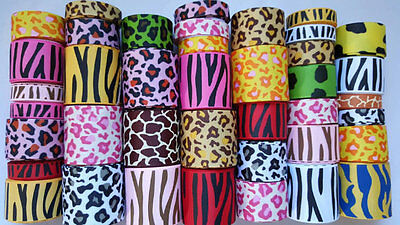 Wholesale grosgrain ribbon lot mix, ANIMAL  print for hairbow