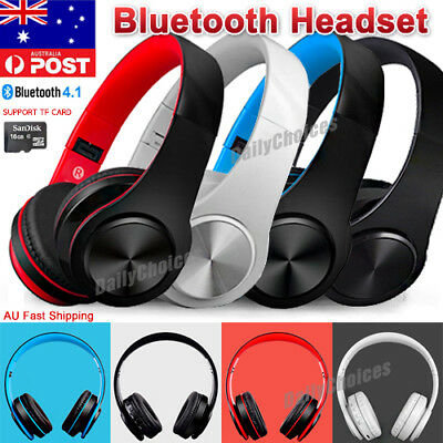 Foldable Wireless Bluetooth Headsets Headphones Mic Stereo For iPhone Samsung