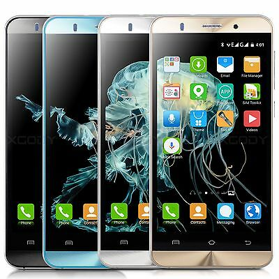 "XGODY 5.0"" Unlocked Mobile Phone 3G GSM Dual SIM Android 5.1 Smartphone 8GB GPS"