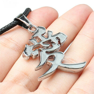Fashion Anime NARUTO Gaara AI Letter LOVE Metal Pendant Necklace cosplay gift