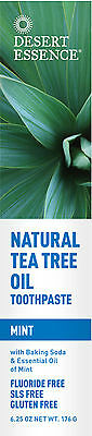 Natural Tea Tree Oil Toothpaste with Mint, Desert Essence, 7 oz