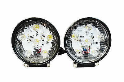 Pair of Super Bright 18W CREE LED Spotlights for Adventure & Touring Motorbikes