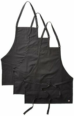 3PACK Dickies Chef Three Pocket Adjustable Bib Apron DC512