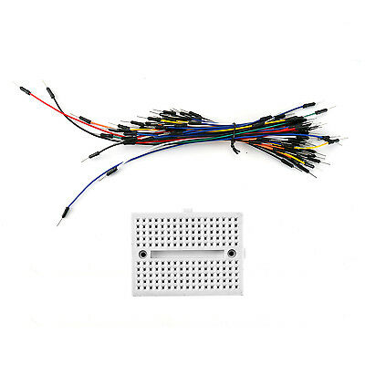170 Tie Points Solderless PCB Breadboard MB102+65Pcs Jumper cable wires Arduino