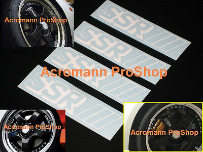 "4x 3"" 7.6cm SSR side spoke alloy wheel Decal Sticker SP1 professor rim RS GT JDM"