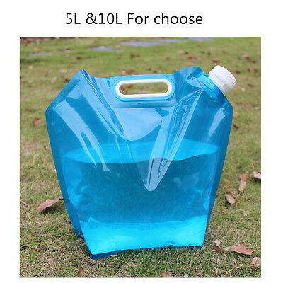 5L/10L Folding Drinking Water Container Storage Lifting Bag Camping Picnic BBQ