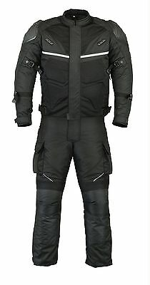 Adlers Mesh Motorbike Textile Jacket Trouser Suit  CE Armoured Waterproof