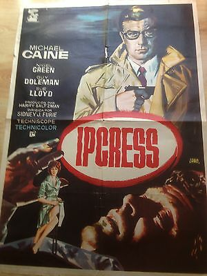 Michael Caine The Ipcress File - Rare Original Spanish Movie Poster