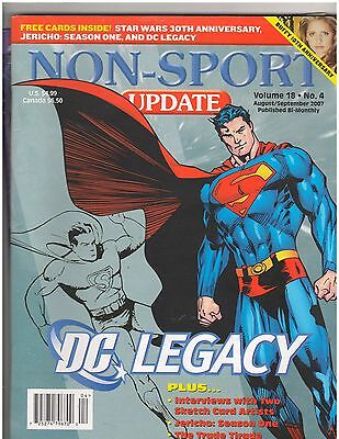 Non-Sports Update Magazine  Superman Cover  Aug / Sept 2007 Issue