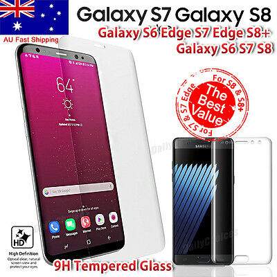 FULL COVER COVERAGE SAMSUNG GALAXY S6 EDGE /Plus Tempered Glass Screen Protector
