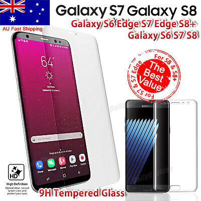 FULL COVER COVERAGE SAMSUNG GALAXY S6 EDGE S7 Tempered Glass Screen Protector