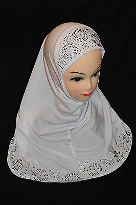 Kids Hijab Children's Readymade Ladies headscarf New Fancy Stretchy *NWT