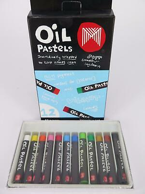 Micador Small Oil Pastels Crayons 12Pk OPM112