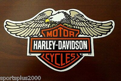 "Inside Window Harley Davidson 8-5/8"" Flying Eagle Bar And Shield Decal Sticker!"