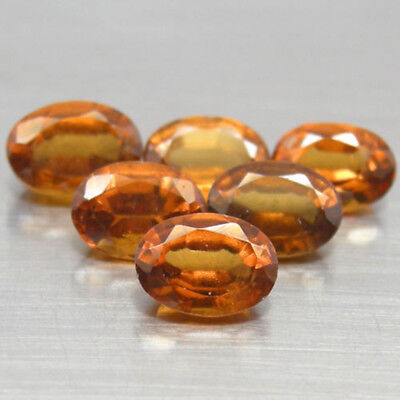 Gema de GRANATE en TALLA OVAL de 5.93ct. 7x5mm.  6pz