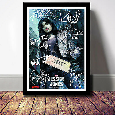 Jessica Jones Full Cast Signed Autograph Print Poster Photo Tv Show Season Dvd