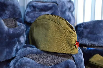 Reproduction Soviet Russian Red Army soldier  garrison field cap pilotka, USSR