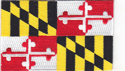 Maryland State Flag - Iron On Embroidered Patch - Flag Of Maryland - Symbol