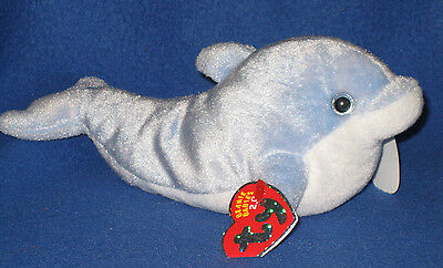 TY CLIPPER the DOLPHIN 2.0 BEANIE BABY - MINT with MINT TAGS