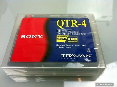 Sony Travan 8GB QTR-4 Kassette, MINI DATA CARTRIDGE, Streamer Band Datenband NEU
