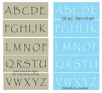 Stencil primitive papyrus alphabet 2 tall capital letters country stencil primitive papyrus alphabet 2 tall capital letters country rustic signs spiritdancerdesigns Gallery