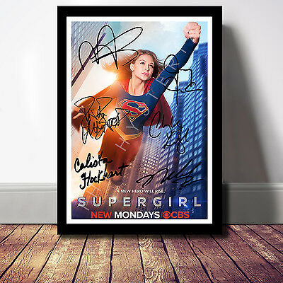 Supergirl Cast Signed Autograph Print Poster Photo Tv Show Series Season Dvd