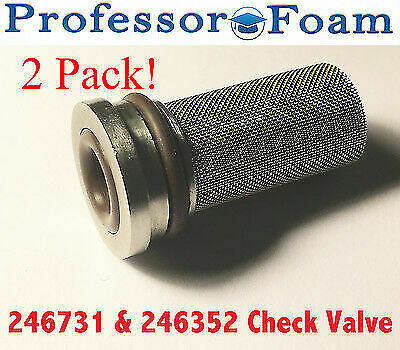 246352 & 246731 (2) Check Valve Assembly fits Graco Fusion Air purge AP LOW COST