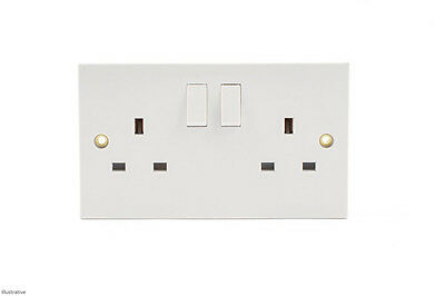 2 Gang Switched Electric Socket