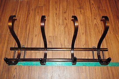 Large Vintage Midcentury OLD Bentwood Coat & Hat Wall Rack NICE