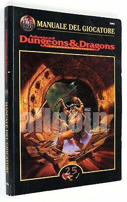 Dungeons & Dragons MANUALE DEL GIOCATORE 1997 Twentyfive #5001 AD&D Advanced