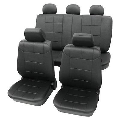 Luxury Leather Look Dark Grey Washable Seat Covers - VW  Golf Mk5 2004-2008
