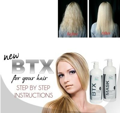 Rio BTX Brazilian Keratin Blowdry Hair Straightening Treatment w/ Shampoo & Mask